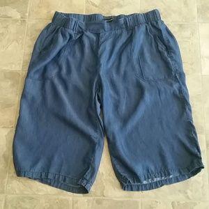 Ashley Stewart Rayon Denim Blue Capri Plus Size 20